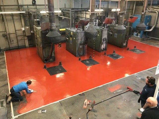 Polyurethane Floor Screed Laid at Metal Tool Manufacturer